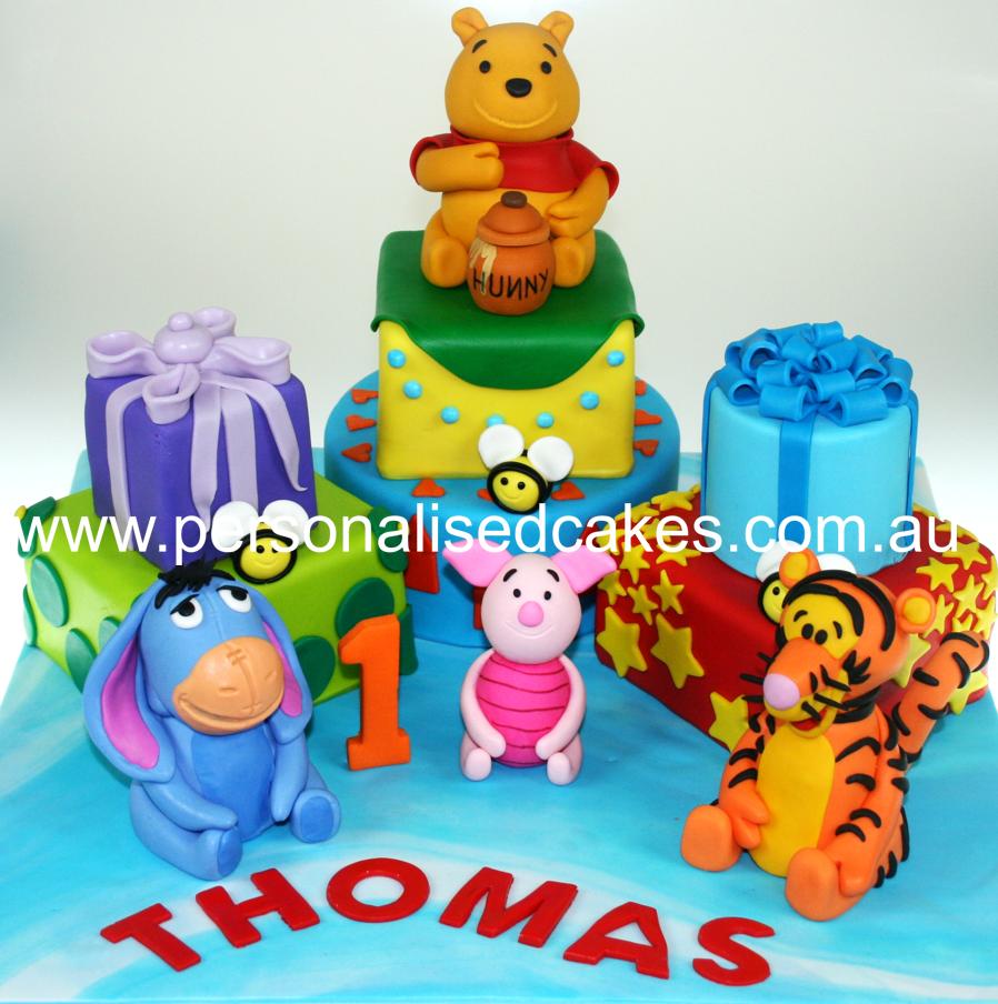 Cake childrens birthday cake winnie birthday cake winnie th pooh cake