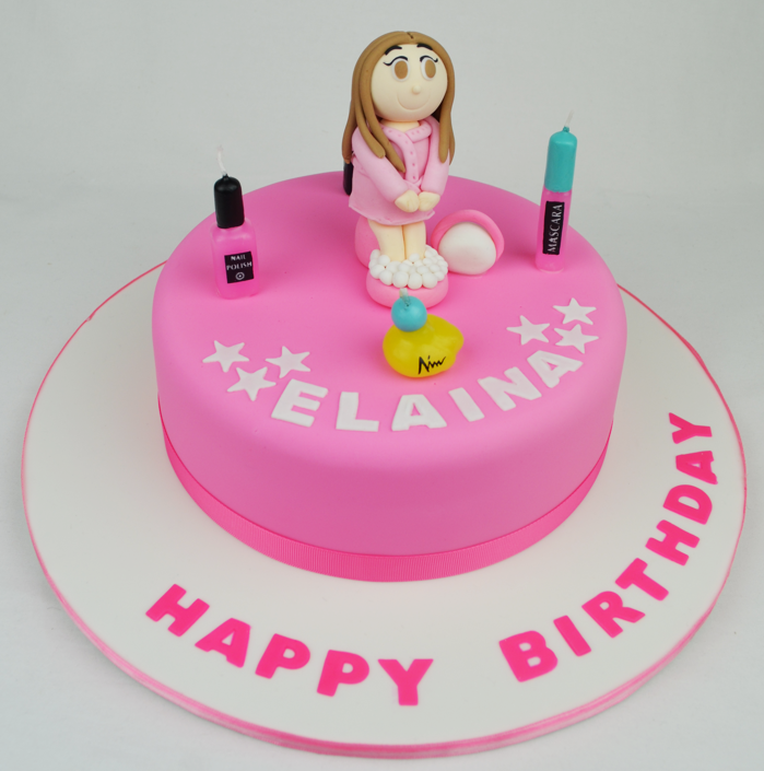Pamper Party Cake Images : makeup pamper themed cake , ? Personalised Cakes.com.au