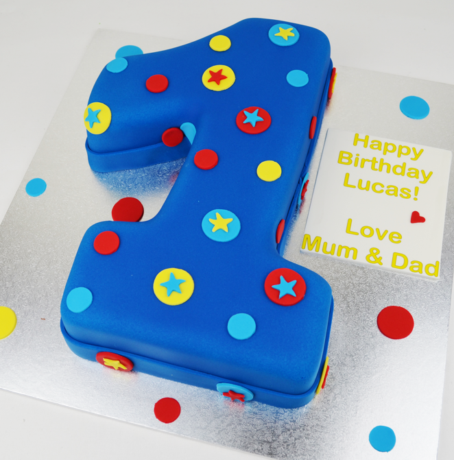 Cake Designs For 1 Year Birthday : Numeral 1 Birthday Cake ? Personalised Cakes.com.au