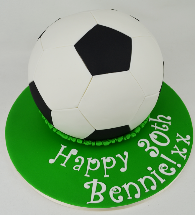 Cake Arch Balloon Design : 3d soccer ball cake ? Personalised Cakes.com.au
