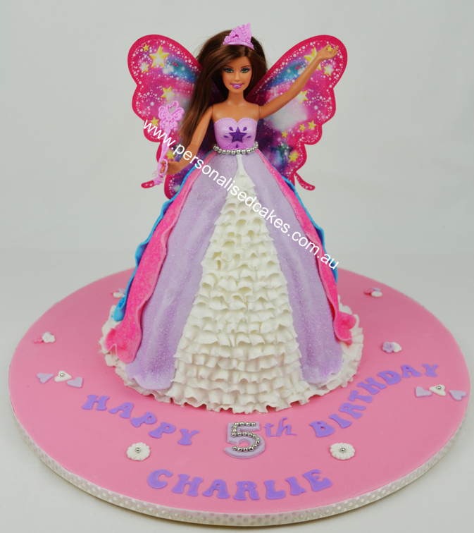 Doll Cake Images With Name : Pin Doll Cake Childrens Birthday Cakes Sydney Barbie ...