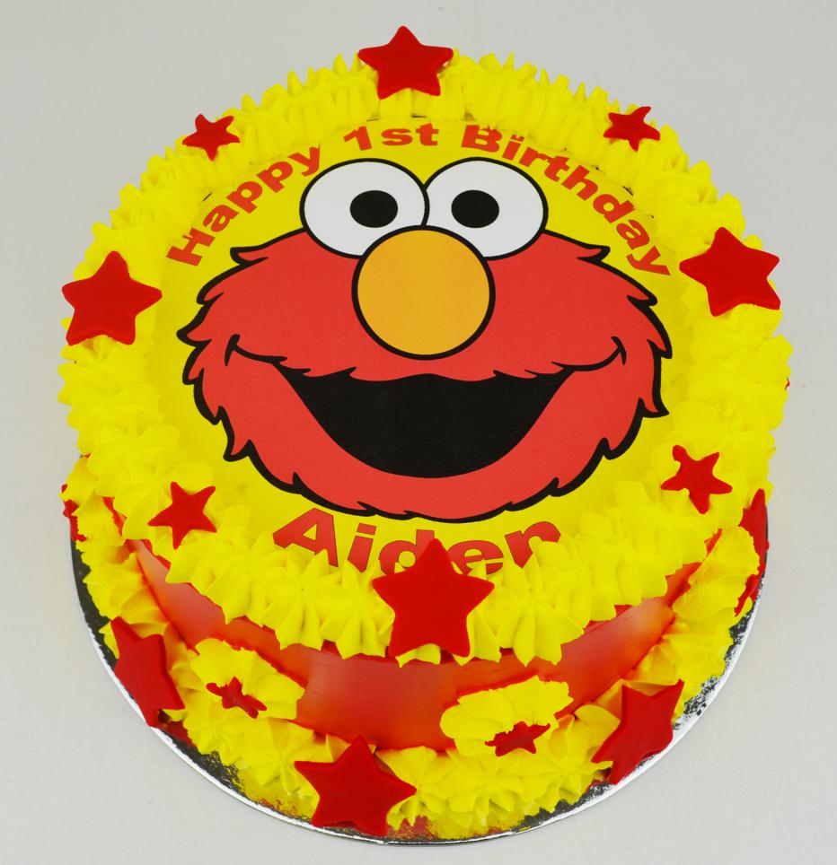 Elmo Birthday Cake Edible Image : Elmo birthday cake ? Personalised Cakes.com.au