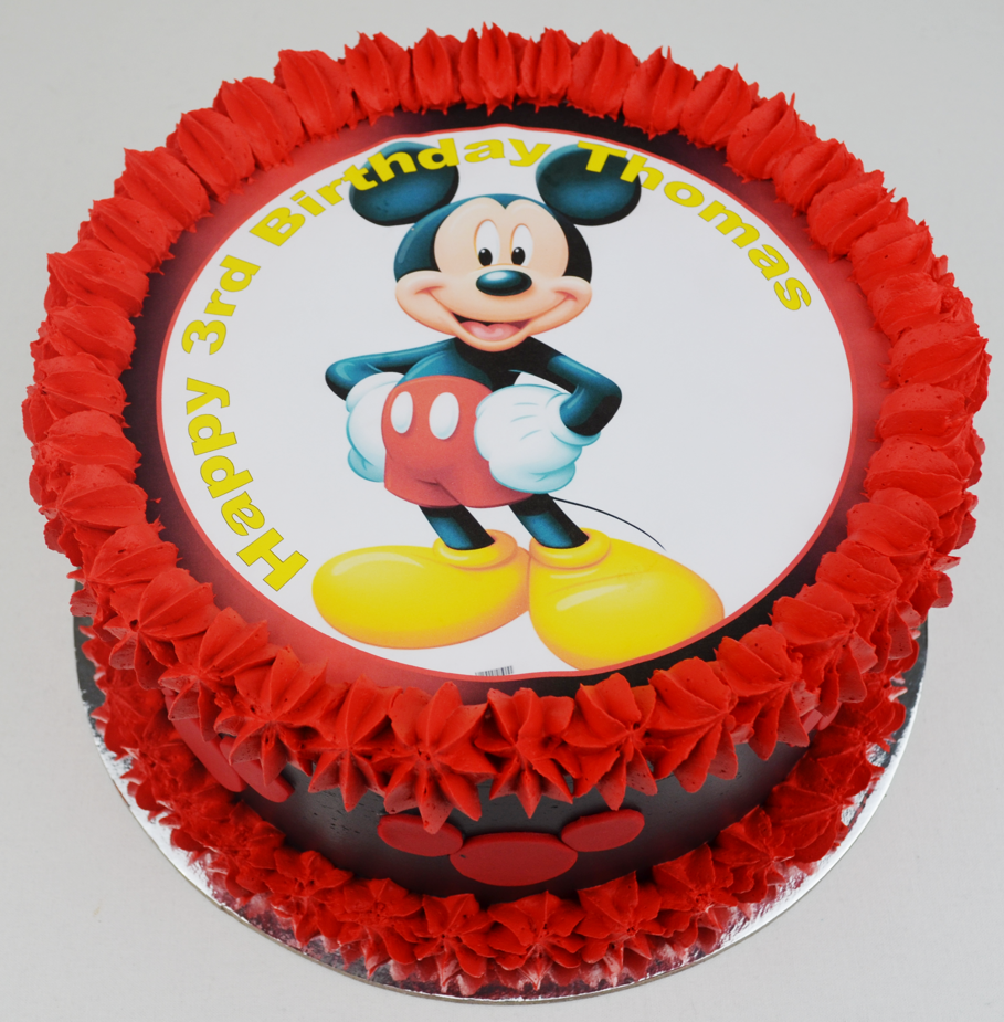 Edible Cake Images Au : mickey mouse birthday cake, edible image cake, kids cakes ...
