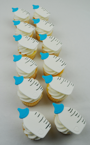 baby bottle cupcakes