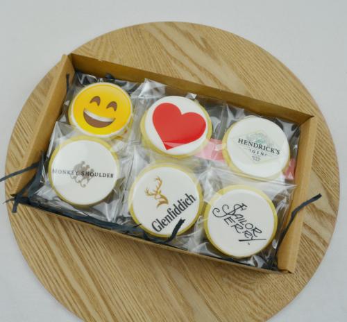 branded logo cookies