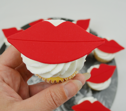 lips cupcakes