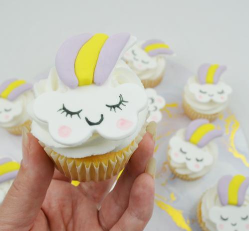 unicorn cloud cupcake