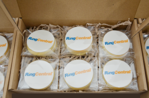 Gift boxed logo cookies