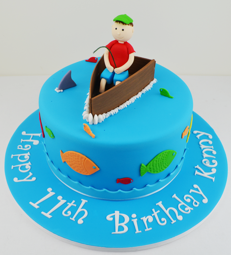 cake cake cake cake children s fishing themed birthday cake 2193