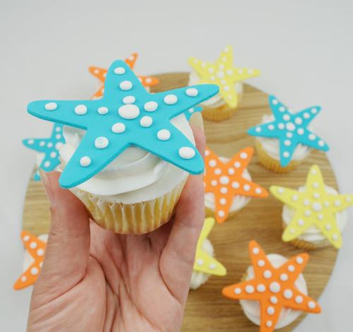 starfish cupcakes