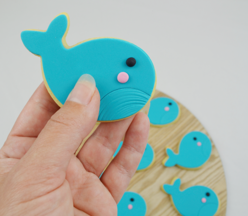 Whale dolphin cookies