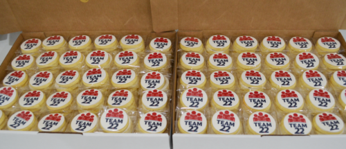Logo cookies for staff