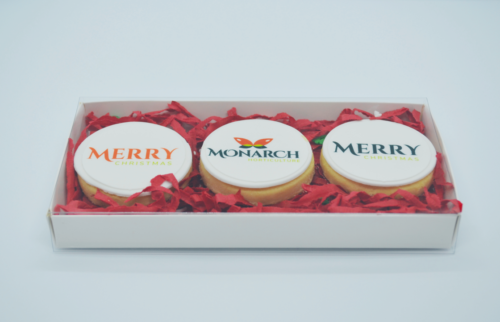 Logo cookies gift box