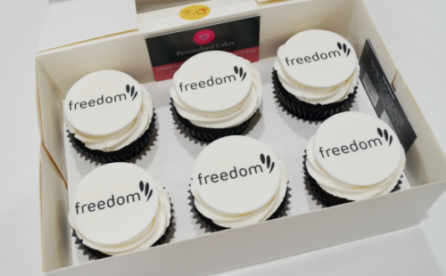logo cupcakes delivered